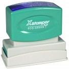 XSTAMPER CUSTOM ECO-GREEN PRE-INKED STAMP IMPRESSION AREA .62 X 2.43""
