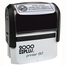 CUSTOM SELF INKING STAMP. IMPRESSION AREA 1.5 X 3""