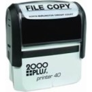 CUSTOM SELF INKING STAMP. IMPRESSION AREA .93 X 2.37""