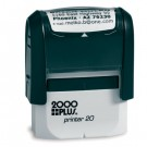 CUSTOM SELF INKING STAMP. IMPRESSION AREA .56 X 1.5""