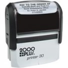 CUSTOM SELF INKING STAMP. IMPRESSION AREA .75 X 1.87""