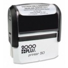 CUSTOM SELF INKING STAMP. IMPRESSION AREA 1.25 X 2.75""